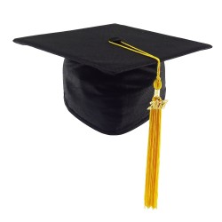 CHILDREN'S SIZE Graduation Cap STANDARD - black