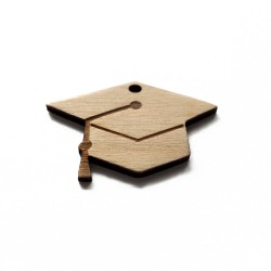 Wooden pendant - graduation cap