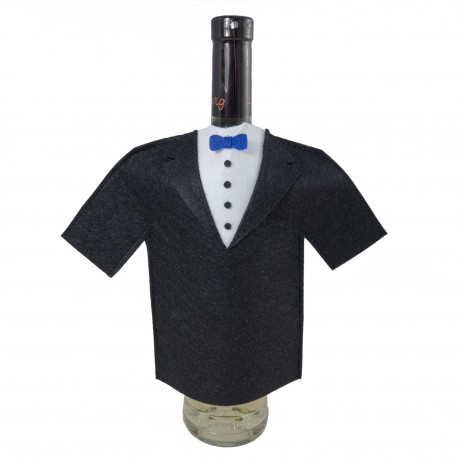 Suit for bottle of wine - tuxedo