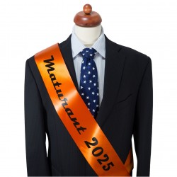 Dark Orange Graduation Sash - satin