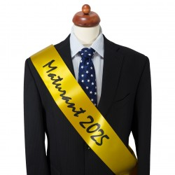 Yellow Graduation Sash - satin