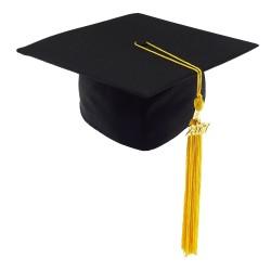 DETSKÁ študentská čiapka MATT - čierna