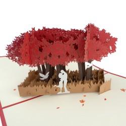 3D blahoželanie - Pár pod stromom