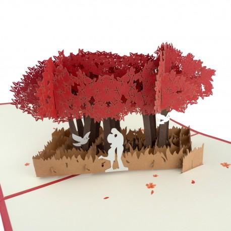 3D přání - Pár pod stromem