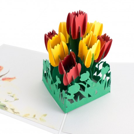 3D blahoželanie - Tulipány