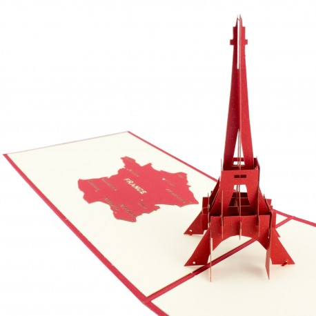 3D greeting card - Eiffel tower