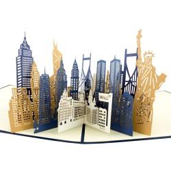3D blahoželanie - New York City