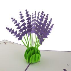 3D greeting card - Lavender