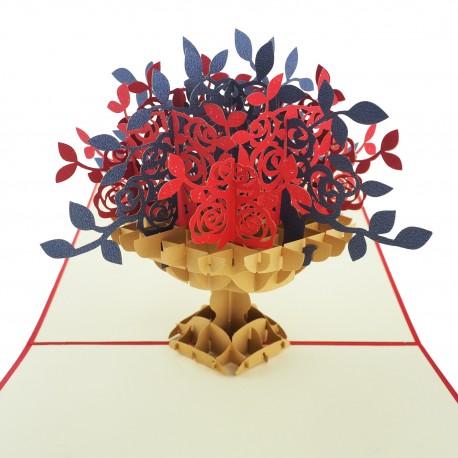 3D greeting card - Flowers