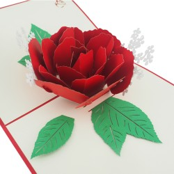 3D greeting card - Flower