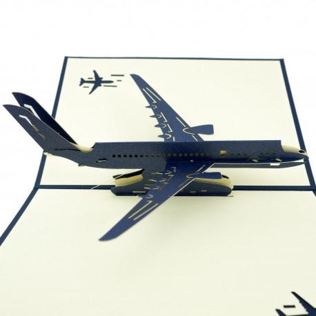 3D greeting card - Aircraft