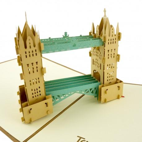 3D greeting card - Tower Bridge