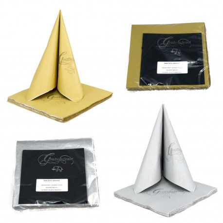 Graduation Gift - Napkin Set - Gold & Silver