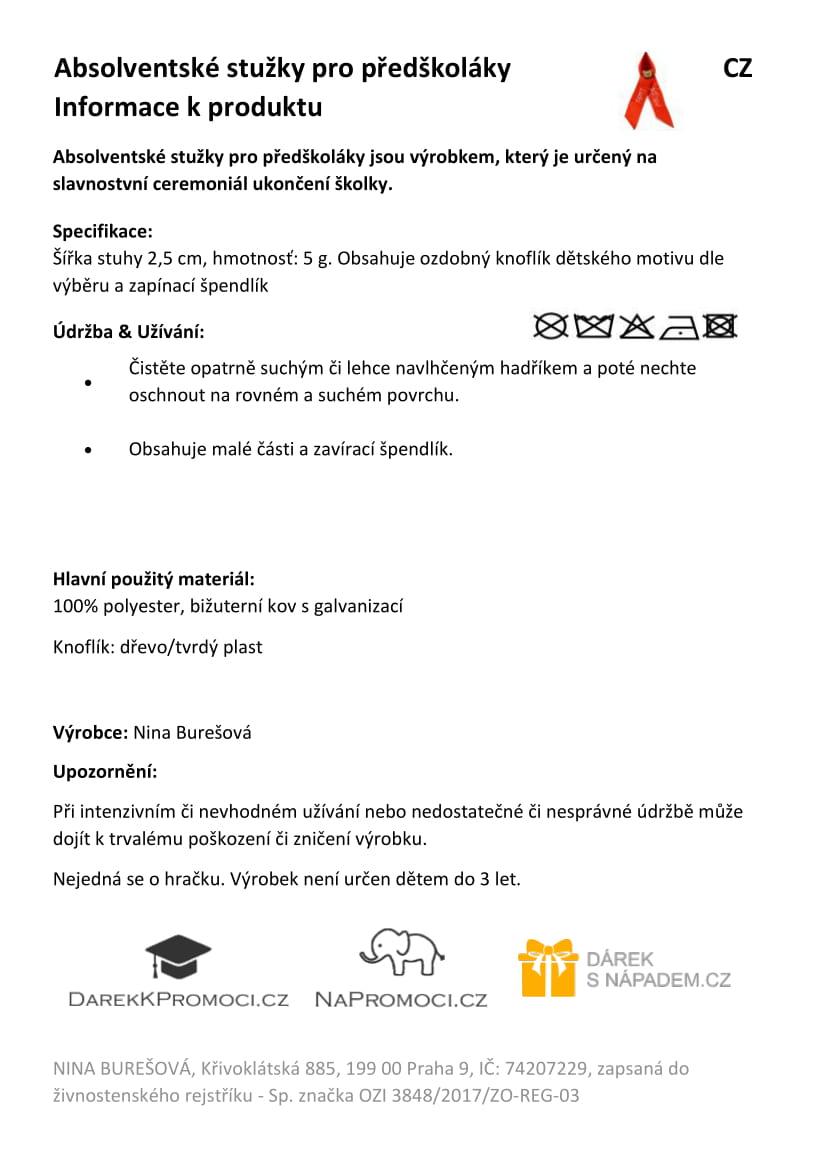 Produktová karta: Absolventské stužky pro školáky