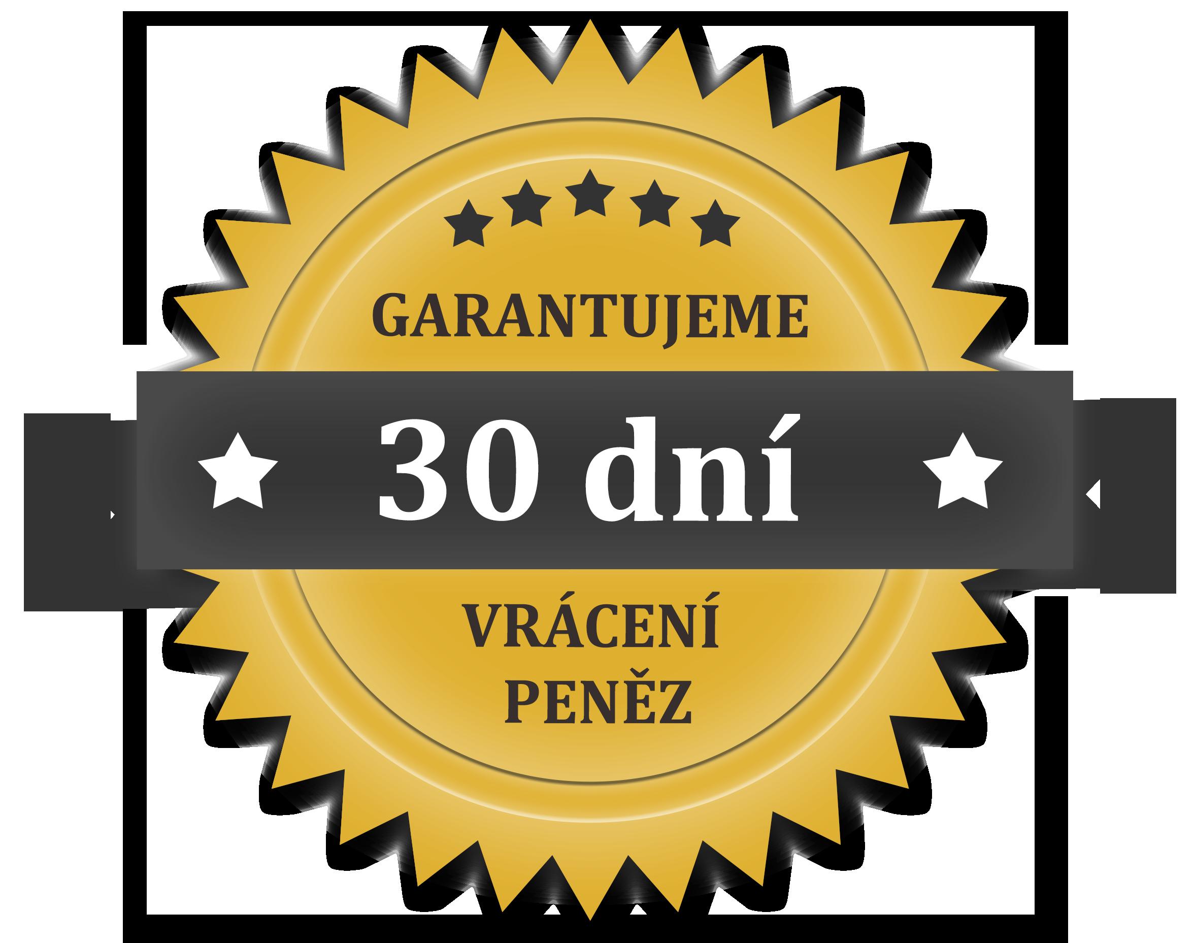 Garancia vrátenia peňazí 30 dní