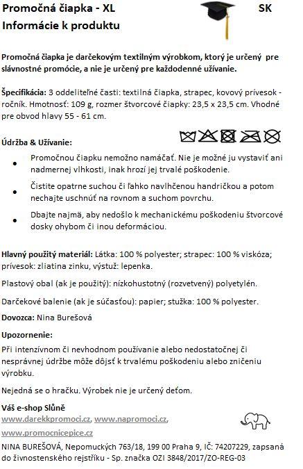Produktová karta: Promoční čiapka XL